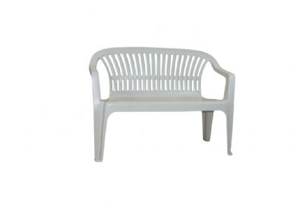SupaGarden Plastic Bench - White